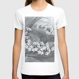 Flowers blowing in the wind T-shirt