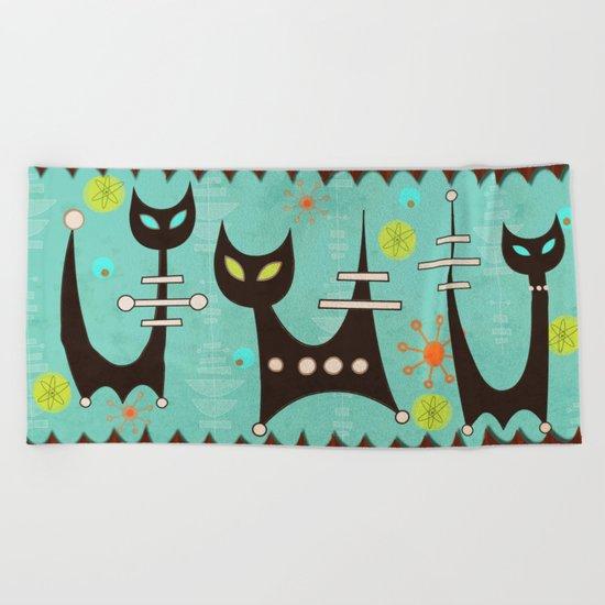 Atomic Cats Beach Towel