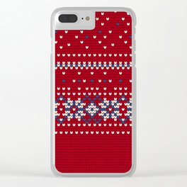 Pattern in Grandma Style #63 Clear iPhone Case