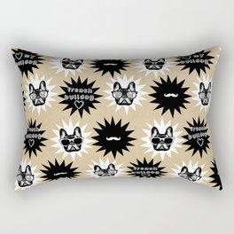 Hipster French Bulldog Rectangular Pillow