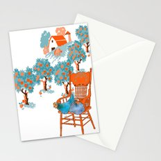 Farm Animals in Chairs #4 Chicken Stationery Cards