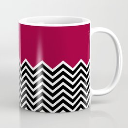 Flat Red and Classic Chevron Coffee Mug