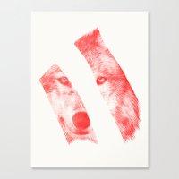 eric fan Canvas Prints featuring Red by Eric Fan & Garima Dhawan by Garima Dhawan