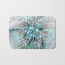Abstract Butterfly, Fantasy Fractal Art Bath Mat