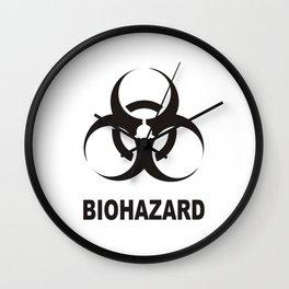 biohazard sign Wall Clock