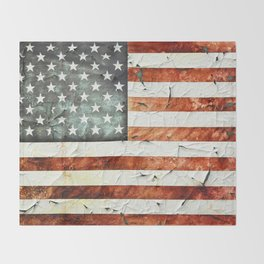 Painted Stars And Stripes Throw Blanket