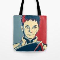 naruto Tote Bags featuring Naruto - Hokage by KingSora