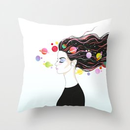 some space Throw Pillow