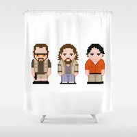 lebowski Shower Curtains featuring The Big Lebowski  by PixelPower