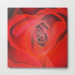 The Heart of the Rose Metal Print