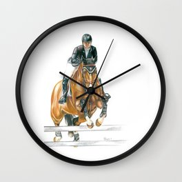 Jumping Horse Wall Clock
