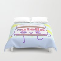 nutella Duvet Covers featuring Nutella by grecia colunga