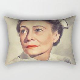 Thelma Ritter, Vintage Actress Rectangular Pillow