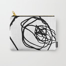 Minimalist abstract flower scribble artwork drawn by a child Carry-All Pouch