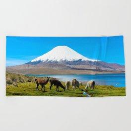Chungara Lake, Chile Beach Towel
