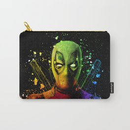 DeadPool2 Comic Book Movie Graffiti Style Abstract Painting - Ryan Reynolds Carry-All Pouch