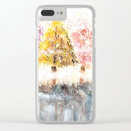 Watercolor Little Forest Illustration Clear iPhone Case