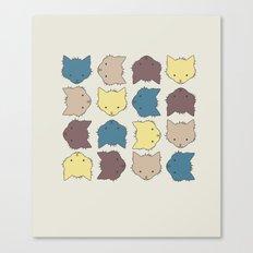 Pastel cat faces Canvas Print