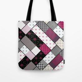 Geometric patchwork Tote Bag