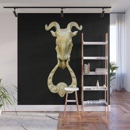 Knocker black Wall Mural