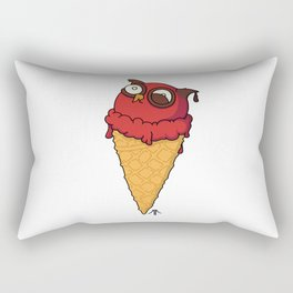 Owl cream cone with strawberry flavour Rectangular Pillow