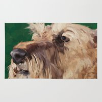 terrier Area & Throw Rugs featuring Irish terrier by Carl Conway