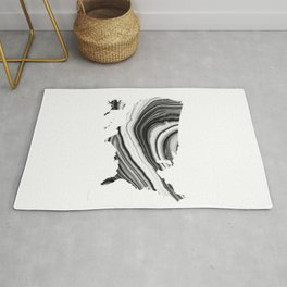 Black And White Map Of The United States of America 25 - Sharon Cummings Rug