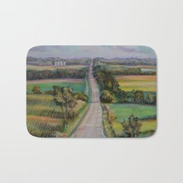 Country Road Across the Hills Bath Mat