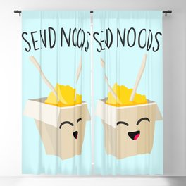 Send Noods, Funny, Cute, Quote Blackout Curtain