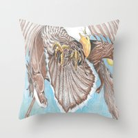 guardians Throw Pillows featuring Guardians by Connie Campbell