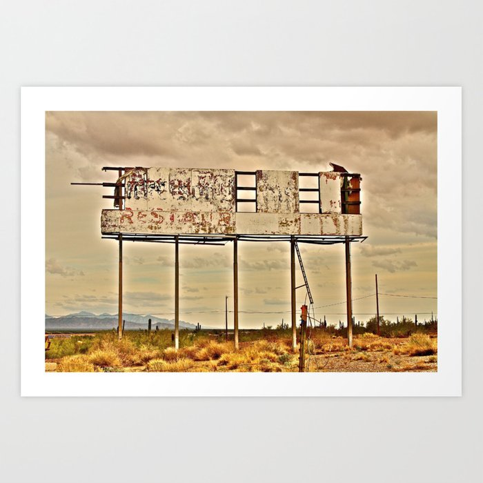 f940e4e05 Abandoned Billboard Art Print by siliconvalley | Society6