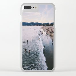 Winter in Santa Monica, California Clear iPhone Case