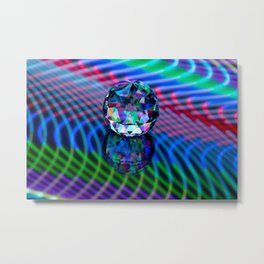 Colour of facets in glass. Metal Print
