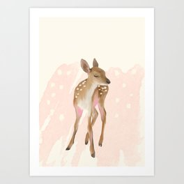 Little Fawn Art Print