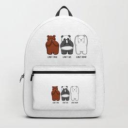 Three Wise Bears - Hear No Evil, See No Evil, Speak No Evil Backpack