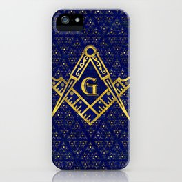Freemasonry symbol Square and Compasses iPhone Case