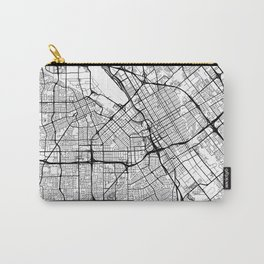 San Jose Map White Carry-All Pouch