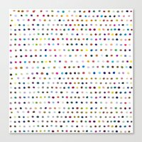 dots Canvas Prints featuring Dots by Farnell