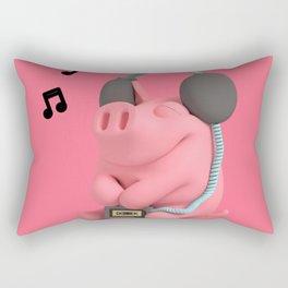 Rosa the Pig Walkman Rectangular Pillow