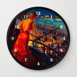 Atlantic City New Jersey Travel Wall Clock