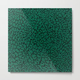 Emerald Green Abstraction Metal Print
