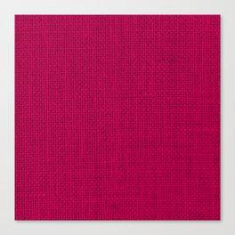Natural Woven Hot Pink Burlap Sack Cloth Canvas Print