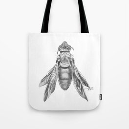 Orchid Bee Illustration Tote Bag