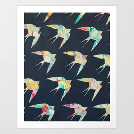 Australian Welcome Swallow I Art Print