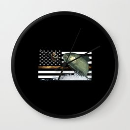 Trout: Thin Line Flag Wall Clock