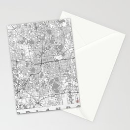 Orlando Map Line Stationery Cards
