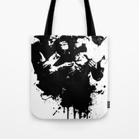 fight Tote Bags featuring fight by DIVIDUS
