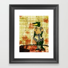 Crocogirl Framed Art Print