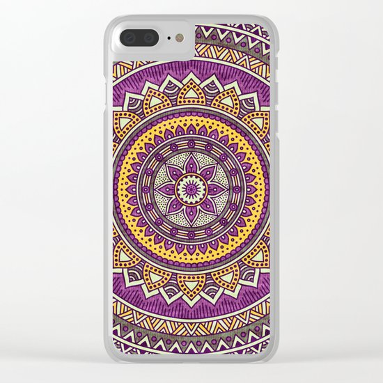Hippie mandala 62 Clear iPhone Case