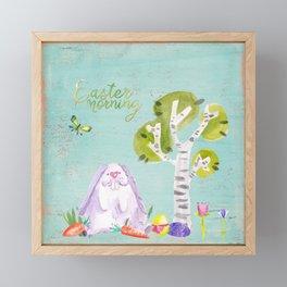 Easter Morning I- Animal Rabit Hare Bunny Spring for children Framed Mini Art Print